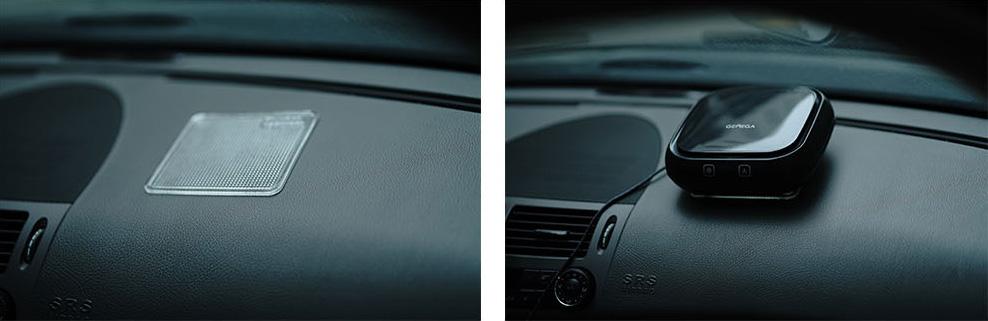 空气净化器汽车仪表台摆放方法