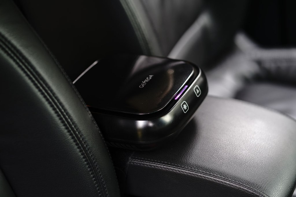 car air purifier in ozone mode