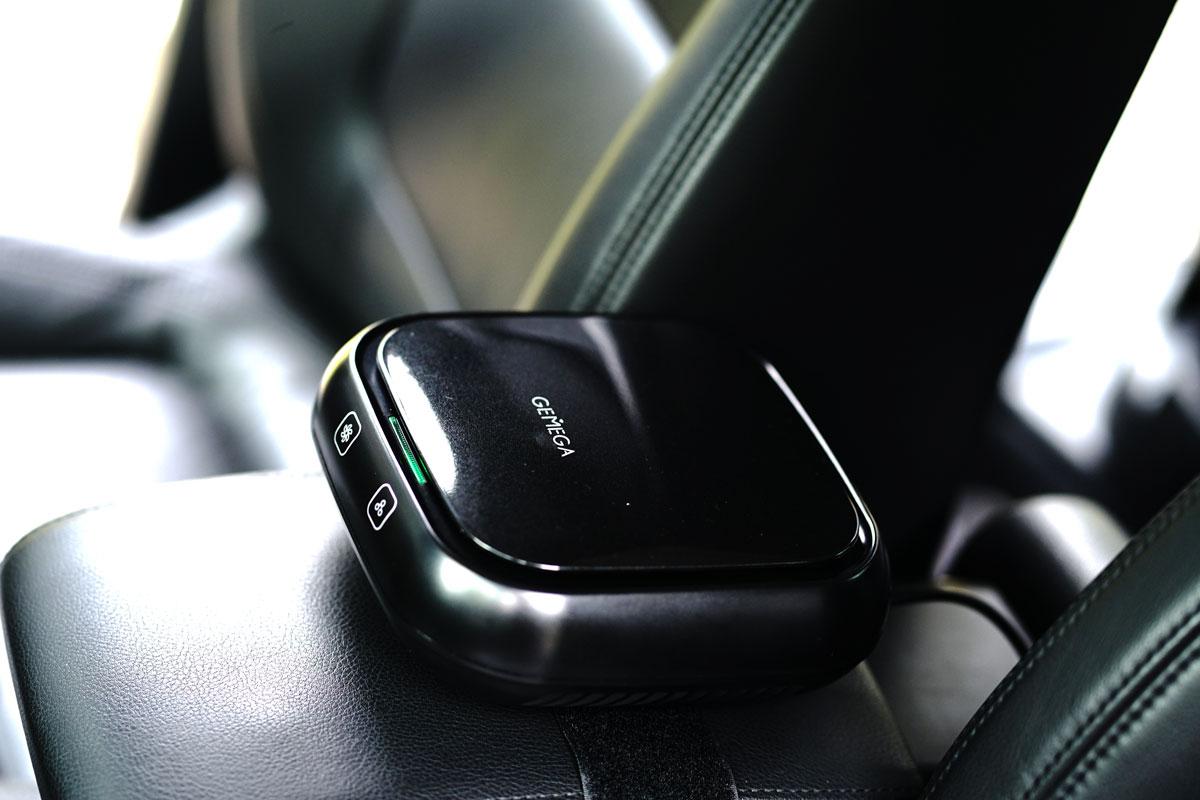 GEMEGA车载空气净化器的绿灯静音模式