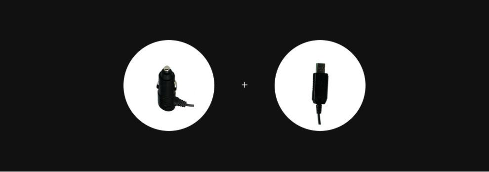 点烟器电源线与USB电源线
