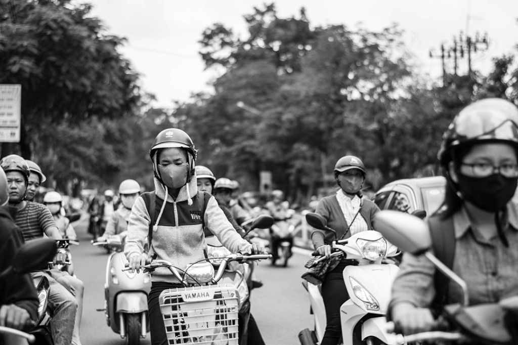 Motorcyclists in Vietnam