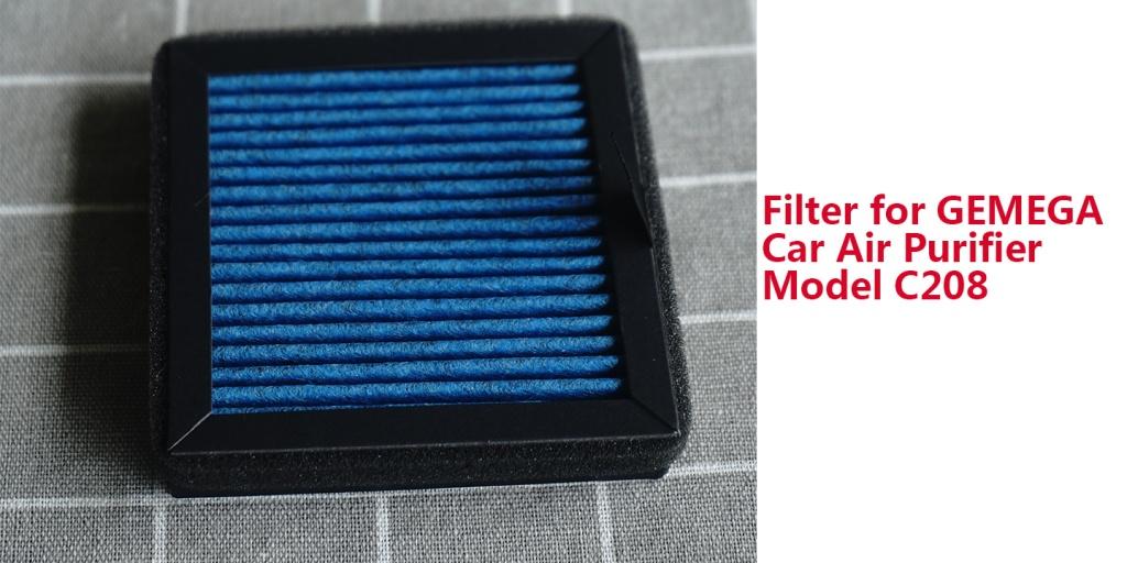 replacement filter for GEMEGA car air purifier Model C208