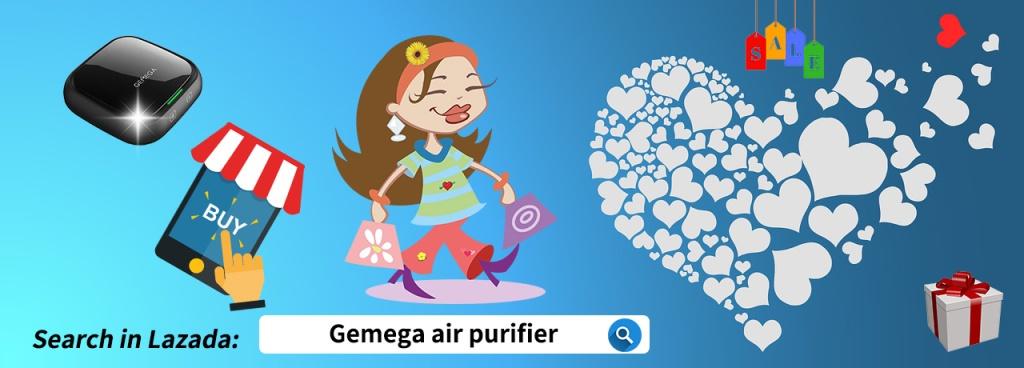 "Search ""GEMEGA air purifier"" in Lazada"